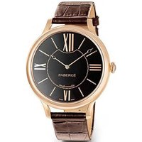 Faberge Watch Lady 18ct Rose Gold Black Dial