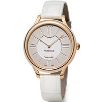 Faberge Watch Lady 18ct Rose Gold White Dial