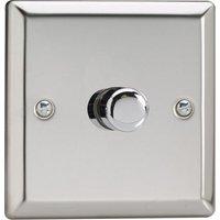 Varilight V Pro LED Dimmer Switch   1 Gang 2 Way   Chrome
