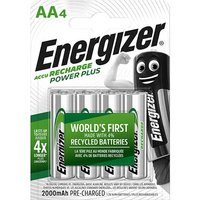 Energizer AA Batteries   Rechargeable   4 Pack