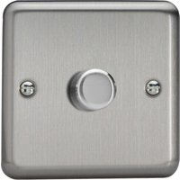 Varilight V Pro LED Dimmer Switch   1 Gang 2 Way   Brushed Metal