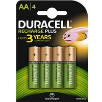 Duracell Recharge Plus AA Batteries   Rechargeable   4 Pack