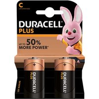 Duracell Plus Power C Batteries   2 Pack