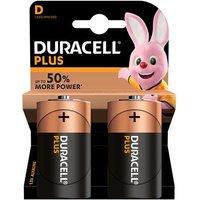 Duracell Plus Power D Batteries   2 Pack