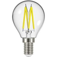 4 8W E14 Golf Filament LED   450lm   2700K   Clear   Dimmable