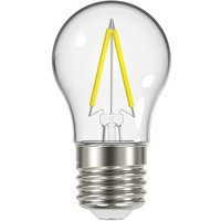 2 3W E27 Golf Filament LED   250lm   2700K   Clear   Non Dimmable