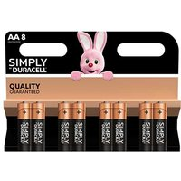 Duracell Simply AA Batteries   8 Pack
