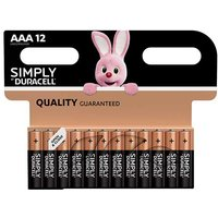 Duracell Simply AAA Batteries   12 Pack