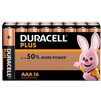 Duracell Plus Power AAA Batteries   16 Pack