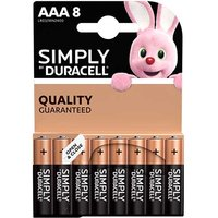 Duracell Simply AAA Batteries   8 Pack