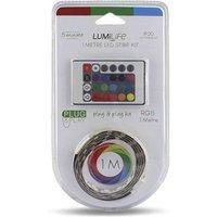 14 4W Plug   Play LED Strip Light   1m Length   RGB   Non Waterproof