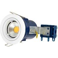 Electralite GU10 Spotlight Fitting   IP20   White