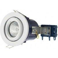 Electralite GU10 Tilted Spotlight Fitting   IP20   White