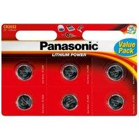 Panasonic CR2032 3V Lithium Coin Cell Batteries 6PK