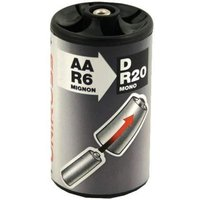 Uniross D Size Battery Converters Pack of 2  AA to D