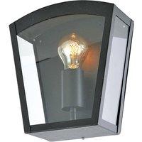 Zinc Outdoor Wall Light Fixture   Black
