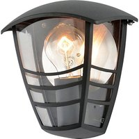 Zinc Outdoor Wall Light Fixture   Black
