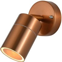 Zinc Outdoor Wall Light Fixture   Copper