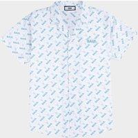 AOP Doll Box Fit Shirt S/S Light Stone/Sky