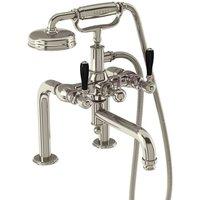 Burlington Arcade Nickel Deck Mounted Bath Shower Mixer