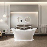 Charlotte Edwards Caliban Acrylic Freestanding Double Ended Bath | Painted Finish Option - 1700 x 700mm