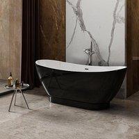 Charlotte Edwards Richmond 1760mm Gloss Black Freestanding Bath