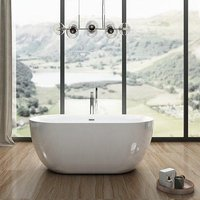 Charlotte Edwards Mayfair Acrylic Freestanding Double Ended Bath | Painted Finish Option - 1500x780mm