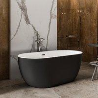 Charlotte Edwards Matt Black Mayfair Acrylic Freestanding Double Ended Bath - 1800x860mm