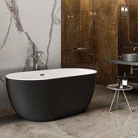 Charlotte Edwards Mayfair Matt Black 1500mm Contemporary Freestanding Bath