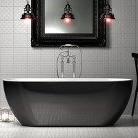 Charlotte Edwards Gloss Black Belgravia Acrylic Freestanding Double Ended Bath - 1500x670mm