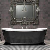 Charlotte Edwards Gloss Black Rosemary Freestanding Double Ended Bath - 1710x720mm
