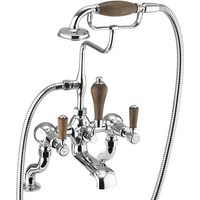 Burlington Kensington Walnut Angled Bath Shower Mixer