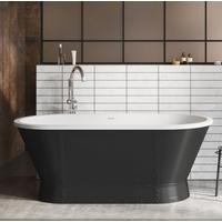 Gladstone Freestanding Matt Black Acrylic Bath