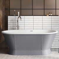 Gladstone Freestanding Matt Grey Acrylic Bath