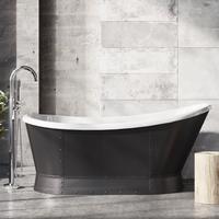 Huxley Freestanding Matt Black Acrylic Bath