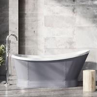 Huxley Freestanding Matt Grey Acrylic Bath
