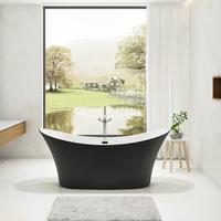 Charlotte Edwards Matt Black Harrow 1700mm Freestanding Bath