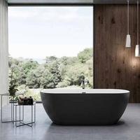 Charlotte Edwards 1690mm Belgravia Matt Black Contemporary Freestanding Bath