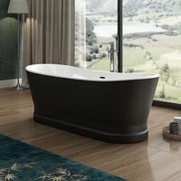 Charlotte Edwards Jupiter Matt Black 1700mm Freestanding Bath