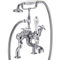 Burlington Anglesey Deck Mounted Bath Shower Mixer With Hose And Handset