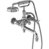 Burlington Arcade Chrome Wall Mounted Bath Shower Mixer