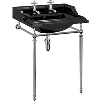 Burlington Jet Classic Square Washbasin With Black Frame