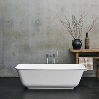 Clearwater Nuvola ClearStone 1700mm Freestanding Bath