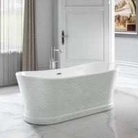 Charlotte Edwards Sparkling Silver Jupiter 1700mm Freestanding Bath