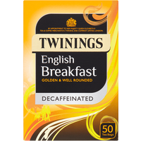 Twinings English Breakfast Decaffeinated 50 Tea Bags 125g