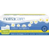 Natracare Organic Regular Tampons 20 Per Pack