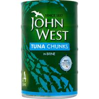 John West Tuna Chunks in Brine 4 x 145g