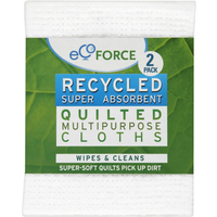 Ecoforce Recycled Multi Purpose Quilted Cloths 2Pack