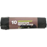 Symphony Degradable 70L Refuse Sacks With Drawtape 10s