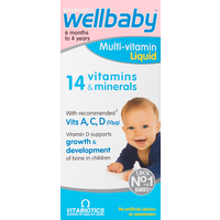 Vitabiotics Wellbaby Multi-Vitamin Liquid 6 Months to 4 Years 150ml